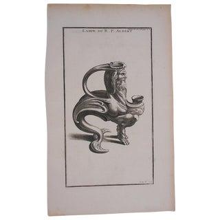 Antique Oil Lamp Engraving