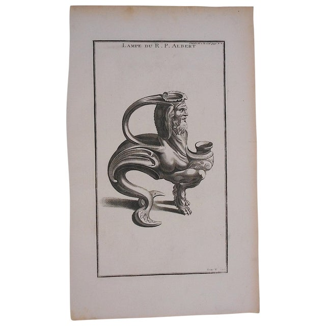 Antique Oil Lamp Engraving - Image 1 of 3