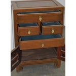 Image of Mid 20th Century Hardwood Asian Chest Side Table