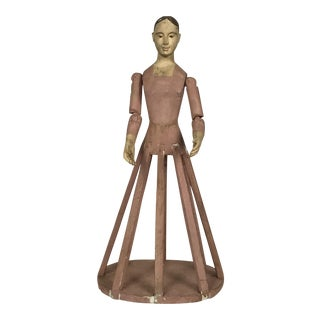 Hand Carved Wood Articulated Hand Cage Doll Mannequin