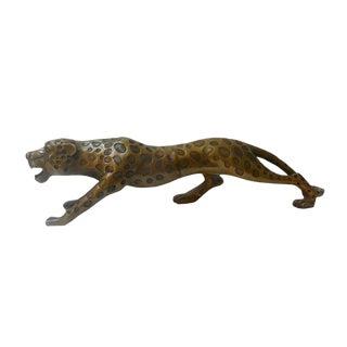 Handmade Bronze Leopard Figurine