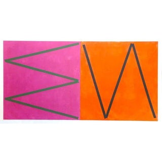 Orange & Pink Abstract by Joaquim Chancho