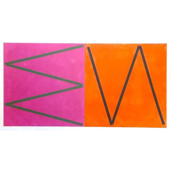 Image of Orange & Pink Abstract by Joaquim Chancho