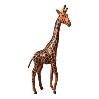 Vintage Bohemian Leather Giraffe