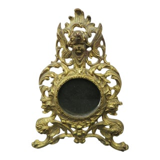 Victorian Gothic Revival Gilt Iron Standing Frame