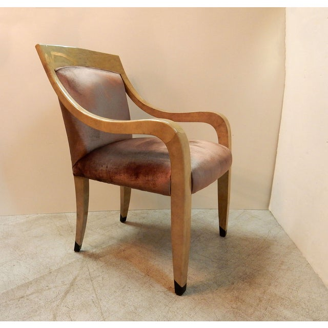 Donghia Goatskin Arm Chairs - Pair - Image 4 of 7