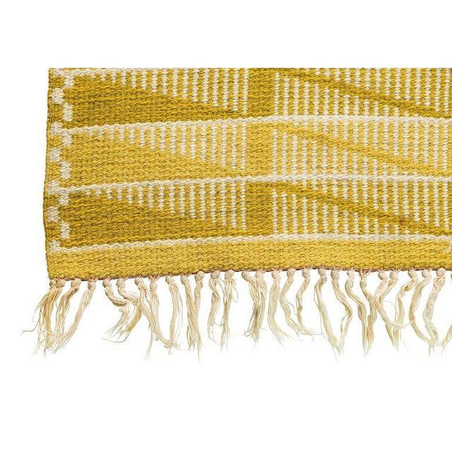 Vintage Swedish Flat-Weave Carpet - Image 8 of 9