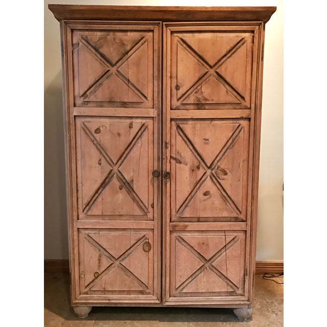 Customized Mexican Pine Cantina Dry Bar Cabinet - Image 2 of 10