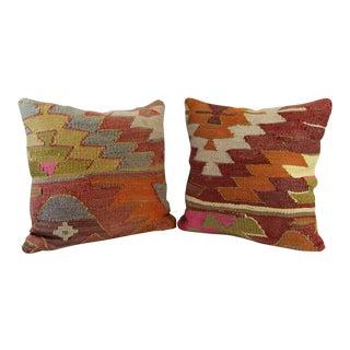 Turkish Kilim Pillow - A Pair