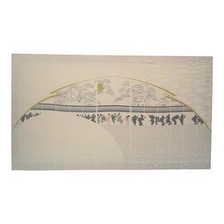 Odori Asian Themed Silkscreen Wall Hanging