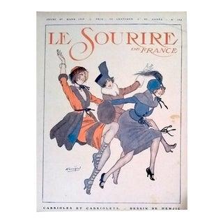 "Hemjic 1919 ""Capering"" Le Sourire Cover Print"