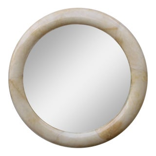 Lacquered Goatskin Mirror