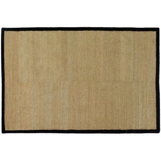 Gold and Black Contemporary Rug - 6′ × 9′2″