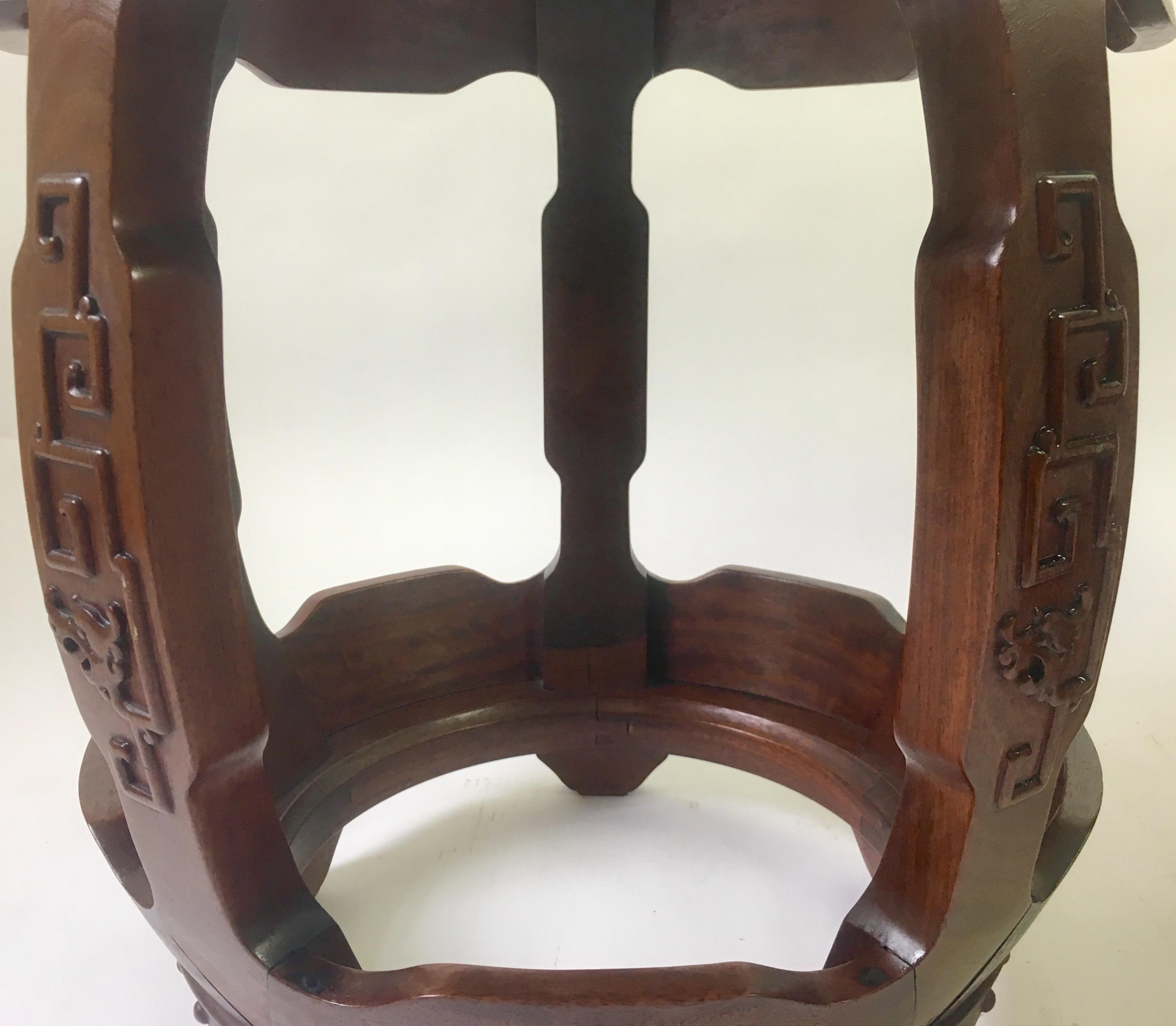 Antique Chinese Rosewood Drum Stools -- A Pair - Image 4 of 8 & Antique Chinese Rosewood Drum Stools -- A Pair | Chairish islam-shia.org