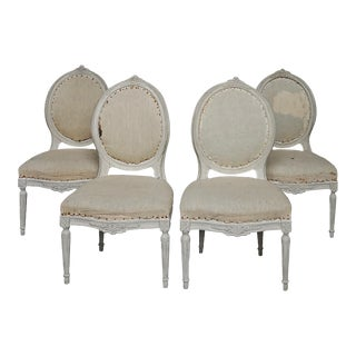 Set of Four Gustavian Style Side Chairs (#42-12)