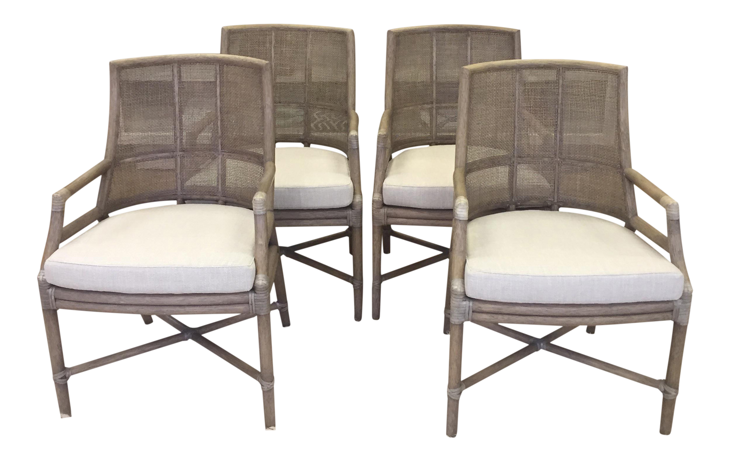 McGuire Rattan Chairs   Set Of 4