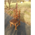Image of Antique Rustic Burl Wood Throne Chair