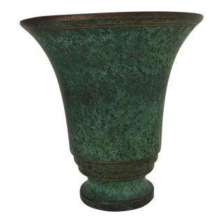 Carl Sorensen Bronze Art Deco Vase