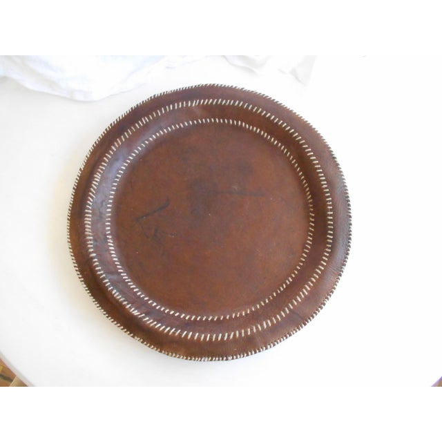 Hand Stitched Leather Tray - Image 4 of 6