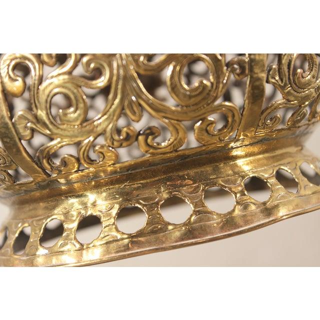 Tibetan Hammered & Pierced Brass Dragon Floor Lamp - Image 7 of 11