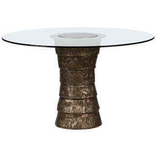 Customizable Sculptural Brutalist Pedestal Style Table