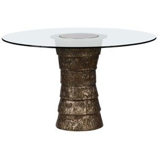 Sculptural Brutalist Pedestal Style Table