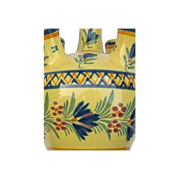 Vintage Henriot Quimper Maiden Tulipier Vase - Image 5 of 6