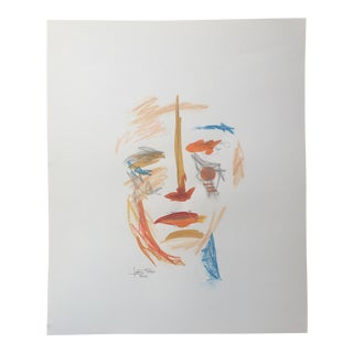 Watercolor Face 008 Painting