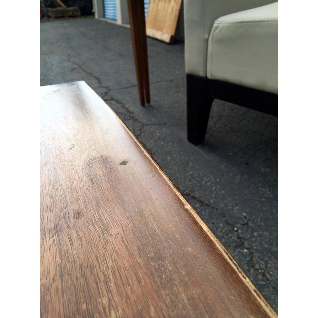 Bassett Walnut Surfboard Coffee Table
