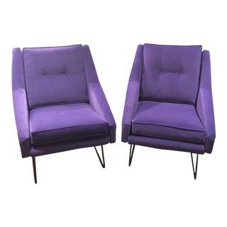 Italian Marco Zanuso Style Arm Chairs - a Pair