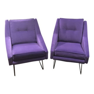Italian Marco Zanuso Style Arm Chairs - a Pair