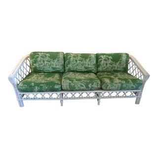 Ficks Reed Trellis Sofa With Vintage Schumacher Fabric