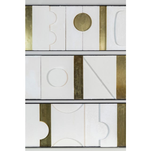 Art Wall Sculpture Panels Triptych by Paul Marra - Image 5 of 8