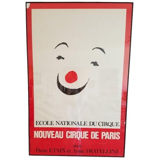 Vintage Paris Circus School Framed Poster
