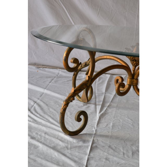 Vintage Italian Gilded Base Cocktail Table - Image 4 of 6
