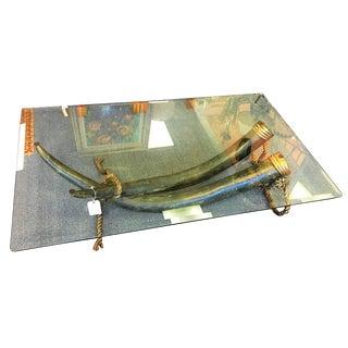 Italo Valenti Original Bronze Tusk Cocktail Table