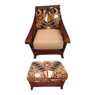 Vintage Padma Plantation Accent Chair & Ottoman