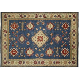 Super Kazak Design Hand Knotted Rug - 8' X 11'