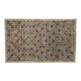 "Zeki Muren Distressed Vintage Turkish Sivas Area Rug - 6'02"" x 9'11"""