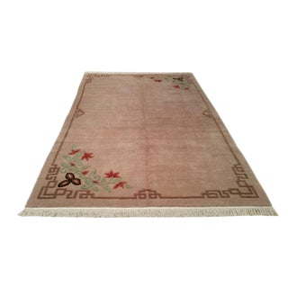 Modern Hand Made Knotted Rug - 6′ × 9′