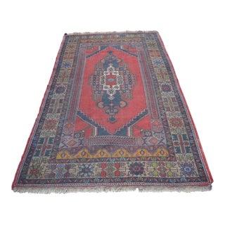 Turkish Handmade Floor Rug - 4′5″ × 8′3″