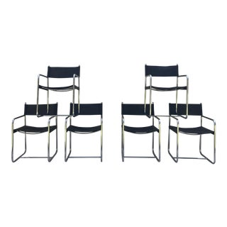 Mid-Century Tubular Chrome Chairs - Set of 6