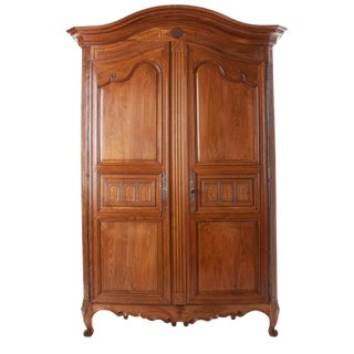French 19th Century Carved Fruitwood Armoire