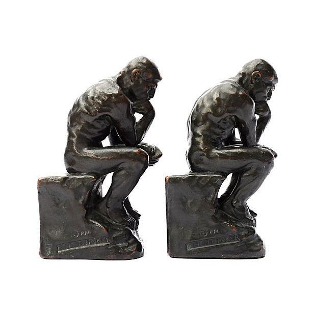 Thinker Bookends - Pair - Image 1 of 4