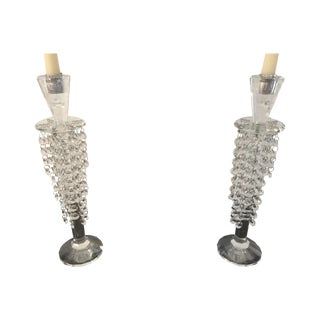 Beaded Mod Candlestick Holders - A Pair