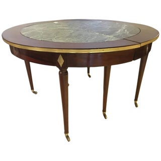 Maison Jansen Marble Top Circular Dining Table