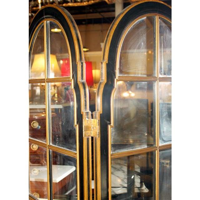 Jansen 3-Panel Chinoiserie Glass Screen - Image 9 of 9