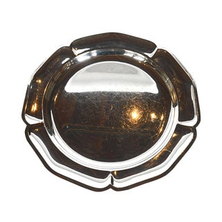 Vintage Silverplated Scalloped Edge Tray