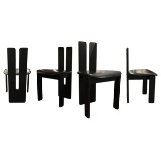 Black Modernist Dining Chairs - Set of 4