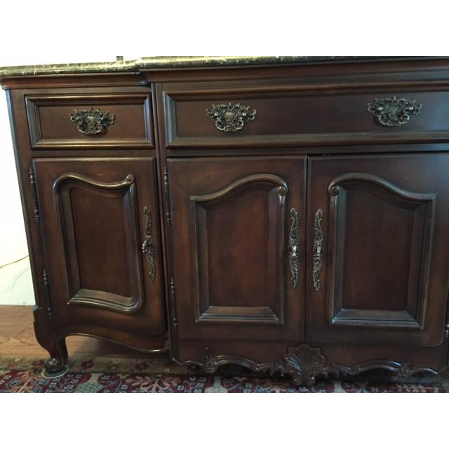 Marble/Granite Top Dining Room Buffet/Sideboard by Bernhardt - Image 3 of 8